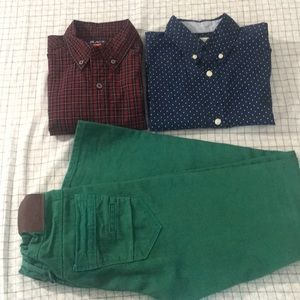 Other - Boys Button down shirts and green jeans